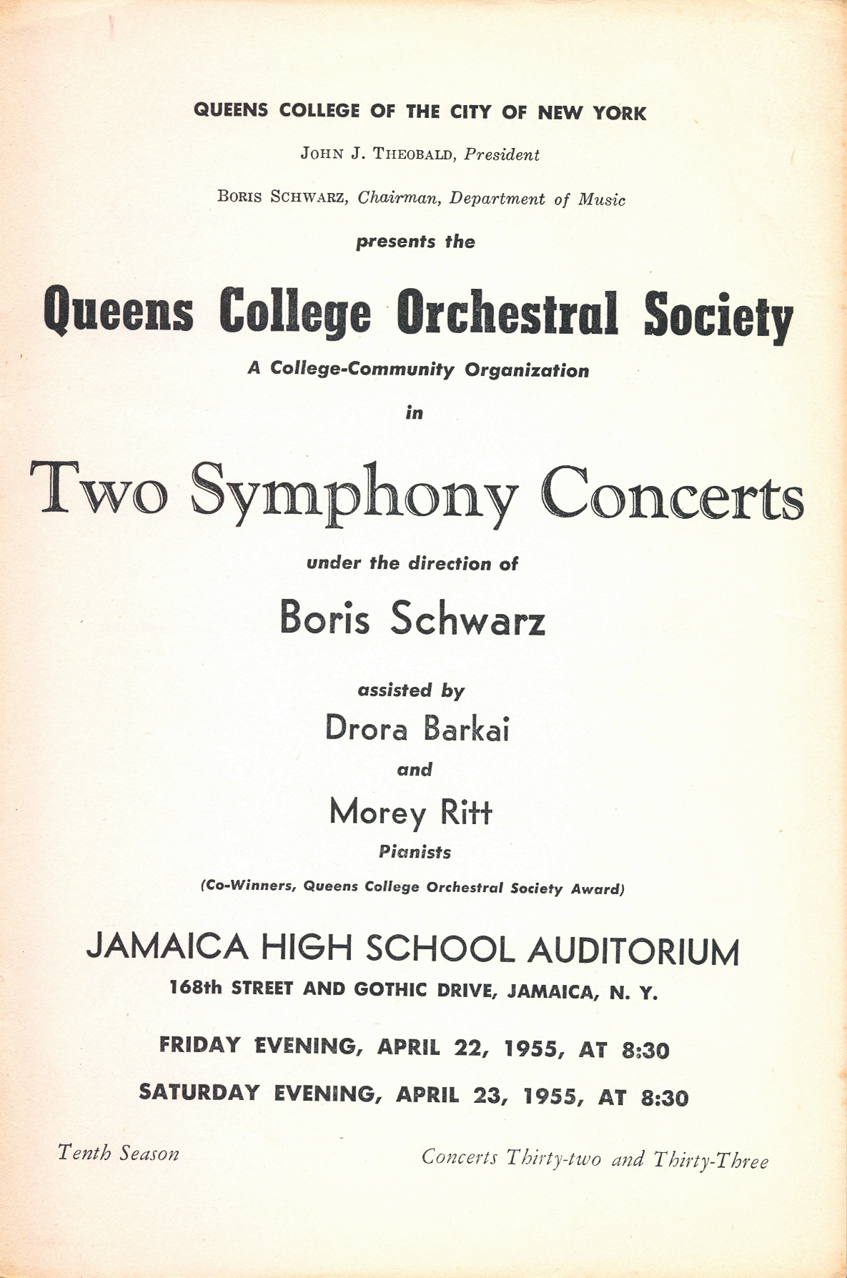 College Orchestral Society...