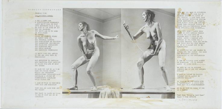 Carolee Schneemann, Interior Scroll