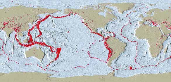 Earthquakeml another belt of earthquakes exists in the centers of the ocean basins at the mid ocean ridges this distribution of earthquake epicenters shows where the gumiabroncs Images