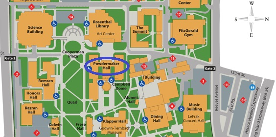 Queens College Campus Map Qc Campus Map | Global Map